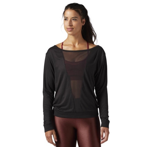 Reebok Tops - Reebok v mesh long sleeve top